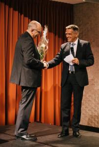 Coach & Trainer Award des dvct 2015: Laudator Thomas Wagenpfeil und Finalist Dr. Walter Schoger